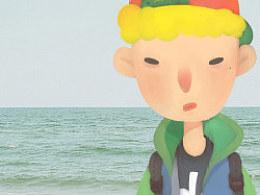眼袋少年去看海