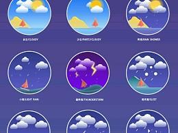 天气插画图标