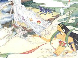 装饰语言创作:《女娲》插图