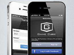 欧美游戏社区GameCube移动应用iphone版本的APP界面设计案例
