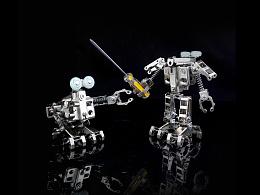 机械党  金属小玩具  变形机器人 迷你呆萌瓦力   模型