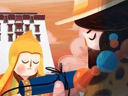 东宣文化《卡地卡哇寺》动画插图设计
