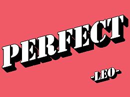 PERFECT|练习|复古字样|简约