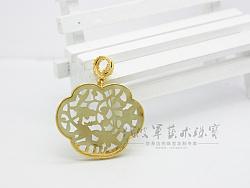代波军艺术珠宝定制----修复后的镂空古玉