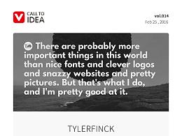 值得设计师每天去逛的网站-call to idea (vol.011-015)