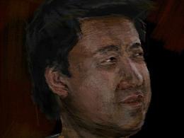 模拟色粉效果的自画像