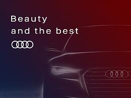 Beauty and the best -奥迪 A7 Sportback 海报设计