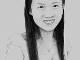 人物素描-年轻女子像
