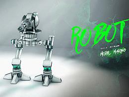 C4D建模-机器人