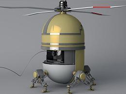 3D建模-机器人飞行动画