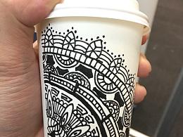 咖啡杯涂鸦
