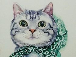 水彩之猫05