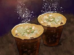 中元节 万圣节 咖啡 饮料 奶茶