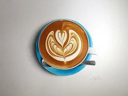 彩铅插画—Latte