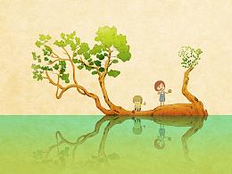童年-插画