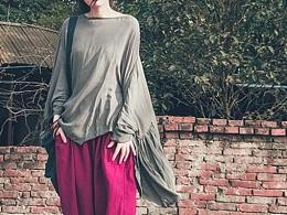 【向日葵记忆棉麻】原创文艺范复古民族风纯棉麻上衣t恤宽松个性设计女装夏秋