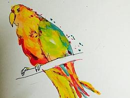 手绘水彩—《热》