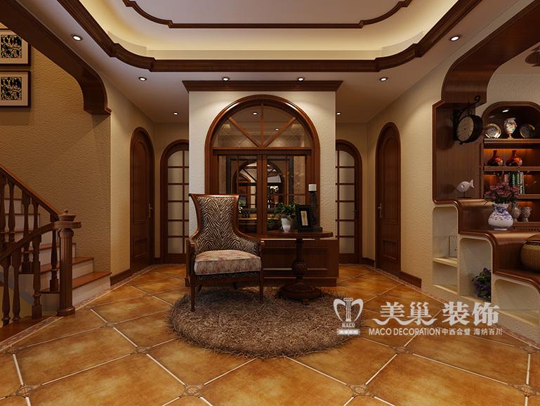 建业海马九如府360平复式别墅美式乡村风格装修效果图
