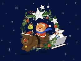 2015富途圣诞壁纸设计