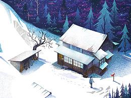 看电影 画海报 NO.11小森冬篇