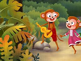 一群葫芦猴