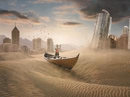合成练习-荒废沙漠之城
