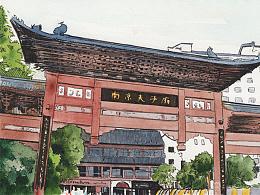 明信片手绘插图样稿 Part 1