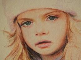 彩铅俄罗斯4岁小模特