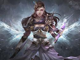 《天之禁Online》游戏商业插画宣传图
