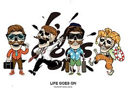 LIFE GOES ON(骷髅)