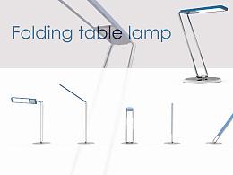 Folding desk lamp