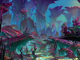 【原创】以前为在TrionWorlds游戏RIFT 画的场景Nightmare Tide
