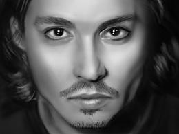 人像手绘练习-Johnny Depp