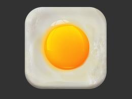临摹的美食图标---鸡蛋