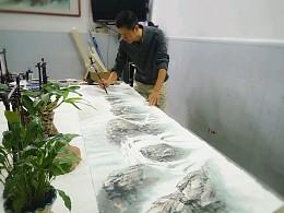 李旭东书画创作生活照
