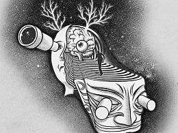 《人类学终身成就奖获奖者风采录》飞机稿(第1方案)+插画