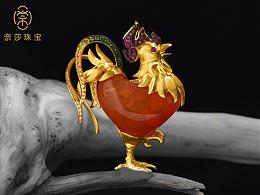奈莎NASA珠宝高端珠宝私人定制原创设计东方文化艺术作品《斗志昂扬》
