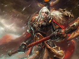 Warhammer 40,000 战锤40k同人,狼团大导师娘化篇,附简单叠色过程~