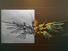 机械 工业感(手绘稿+效果图)