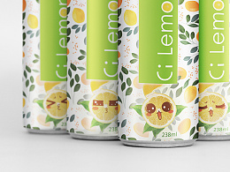 Ci Lemon ade 柠檬饮料包装设计