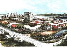 之前给中国石油大学画的一套明信片