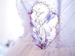 紫色婚纱,光辉女神,望设计兰奕作品