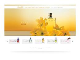 香水主题网页设计 平面 排版 web