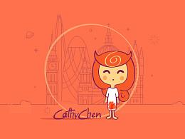 小女孩—Cathychen的系列画