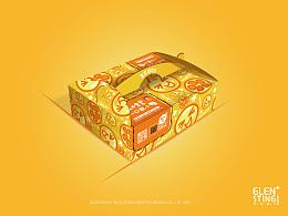 格伦斯汀 水果包装设计 纸箱设计 logo vi设计 食品包装设计 包装盒 沐果派 品牌设计