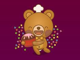熊博士卡通形象——逗逗熊图片