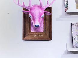 《撸鹿鹿》/粘土浮雕画作品/指见生活