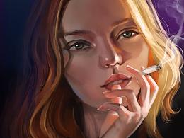 chou'yan'抽烟的女
