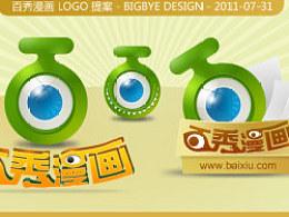百秀漫画logo设计