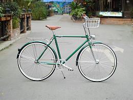 城市通勤买菜复古自行车